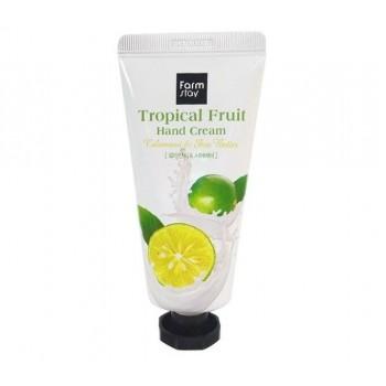 Крем для рук с каламанси  FarmStay Tropical Fruit Hand Cream Calamansi & Shea Butter