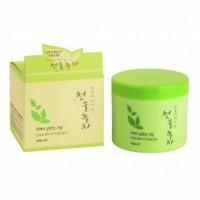 Очищающий крем с экстрактом зеленого чая WELCOS Green Tea Fresh Cleansing Cream