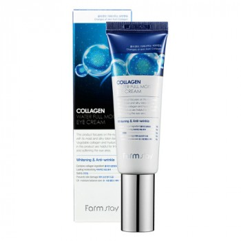 Увлажняющая сыворотка-роллер с коллагеном для кожи вокруг глаз FARMSTAY Collagen Water Full Moist Rolling Eye Serum