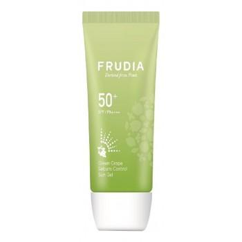 Солнцезащитный гель с зеленым виноградом Frudia Green Grape Sebum Control Cooling Sun Gel SPF 50+ / PA ++++