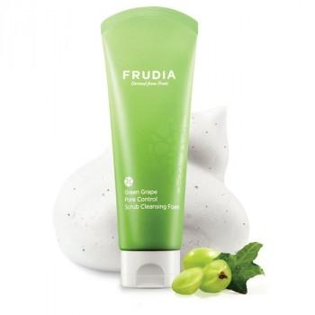 Себорегулирующая пенка - скраб с экстрактом винограда Frudia Green Grape Pore Control Scrub Cleansing Foam