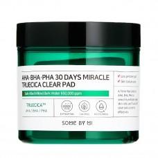 Кислотные пэды для проблемной кожи Some By Mi AHA BHA PHA 30 Days Miracle Truecica Clear Pad