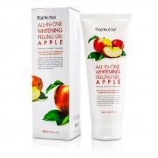 Пилинг-скатка с экстрактом яблока FarmStay All-In-One Whitening Peeling Gel Apple