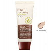 BB - крем на основе муцина улитки PURITO Snail Clearing BB cream SPF38 PA+++