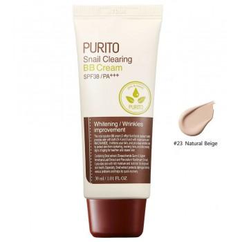 BB - крем на основе муцина улитки PURITO Snail Clearing BB cream SPF38 PA+++