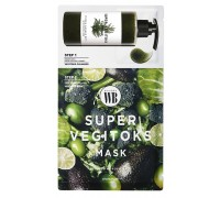 2 - х ступенчатая детокс - система для мгновенного преображения кожи Chosungah By Vibes Wonder Bath Super Vegitoks Mask Green