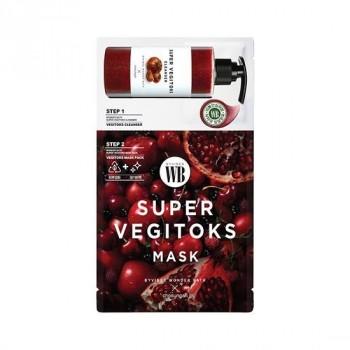 Осветляющая 2 - х ступенчатая детокс - система Chosungah By Vibes Wonder Bath Super Vegitoks Mask Red