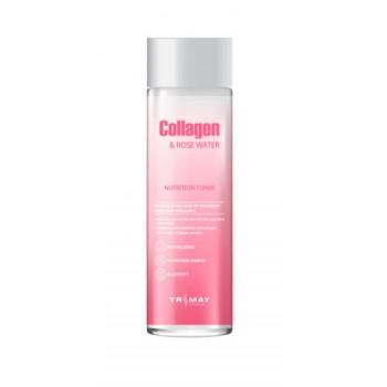 Коллагеновый тонер с розовой водой Trimay Collagen Rose Water Nutrition Tone