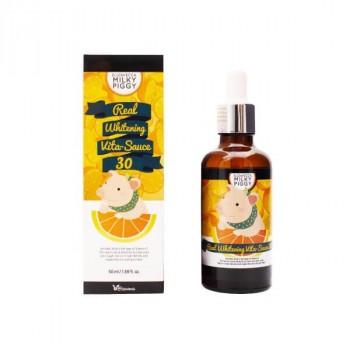 Осветляющая и омолаживающая сыворотка для лица Elizavecca Real White Vita-Sauce 30%