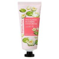 Крем для рук с экстрактом лепестков водяной лилии FarmStay Pink Flower Blooming Hand Cream Water Lily