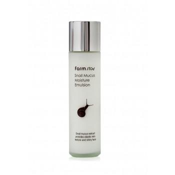 Увлажняющая эмульсия для сухой и зрелой кожи лица с муцином улитки FarmStay Snail Mucus Moisture Emulsion