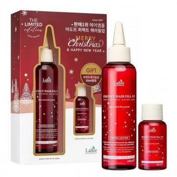 Подарочный набор с филлерами Lador The Limited Edition Merry Christmas Perfect Hair Fill-Up
