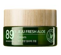 Увлажняющий освежающий крем с соком алоэ вера (89%) The Saem Jeju Fresh Aloe Cream