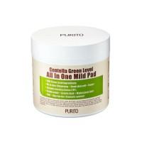 Увлажняющие пилинг - пады с центеллой для очищения кожи PURITO Centella Green Level All In One Mild Pad
