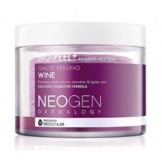 Трёхслойные пилинговые диски с экстрактом красного вина Neogen Dermalogy Bio Peel Gauze Peeling Wine