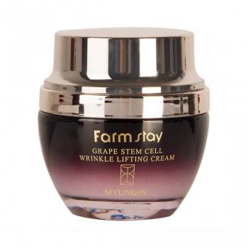 Омолаживающий лифтинг - крем со стволовыми клетками FarmStay Grape Stem Cell Wrinkle Lifting Cream