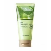 Восстанавливающая пенка для умывания с экстрактом алоэ вера The Saem Jeju Fresh Aloe Cleansing Foam