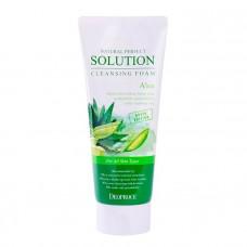 Очищающая пенка для умывания лица с экстрактом алоэ Deoproce Natural Perfect Solution Cleansing Foam Aloe