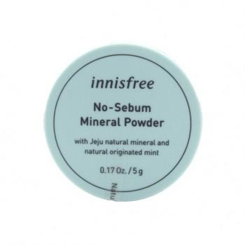 Минеральная матирующая рассыпчатая пудра для лица Innisfree No Sebum Mineral Powder