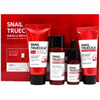 Набор миниатюр для восстановления кожи с муцином чёрной улитки Some By Mi Snail Truesica Miracle Repair Starter Kit