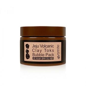 Пузырьковая маска с вулканической глиной Eyenlip Jeju Volcanic Clay Toks Bubble Pack