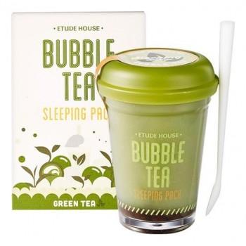 НОЧНАЯ МАСКА ДЛЯ ЛИЦА ETUDE HOUSE BUBBLE TEA SLEEPING PACK GREEN TEA С ЭКСТРАКТОМ ЗЕЛЕНОГО ЧАЯ