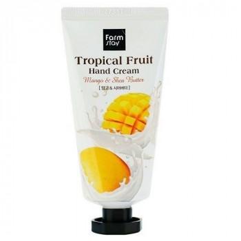 Крем для рук с маслами манго и ши  FarmStay Tropical Fruit Mango & Shea Butter Hand Cream